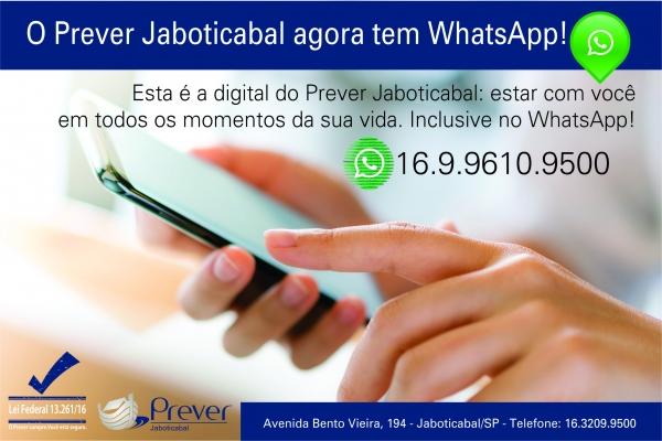 Prever de Jaboticabal cria WhatsApp e amplia comunicação com clientes