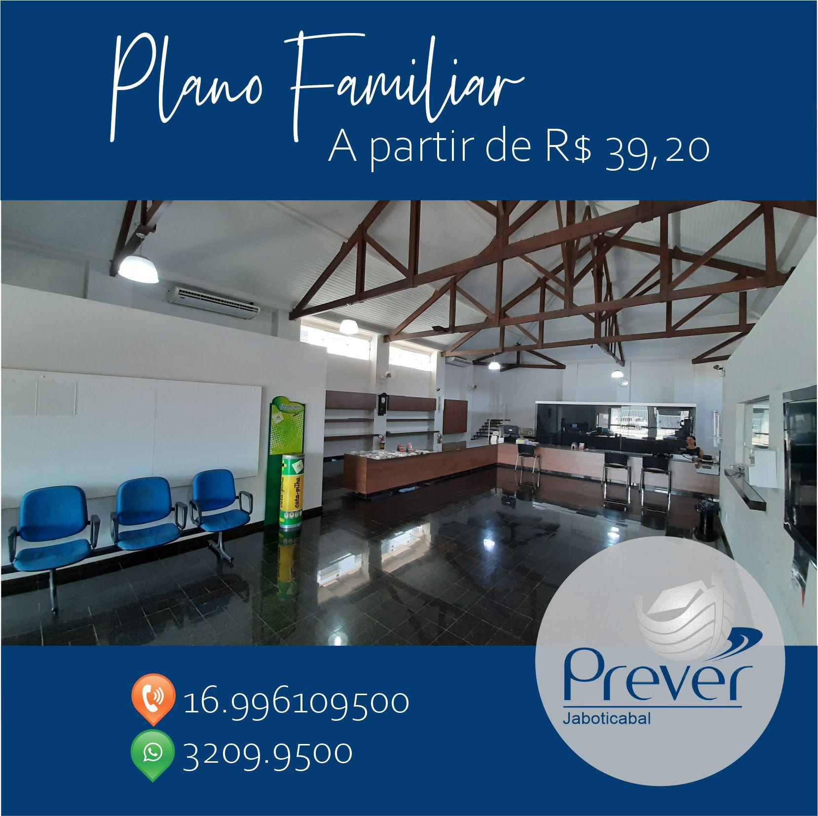 Prever Jaboticabal tem Plano Familiar a partir de R$ 39,20