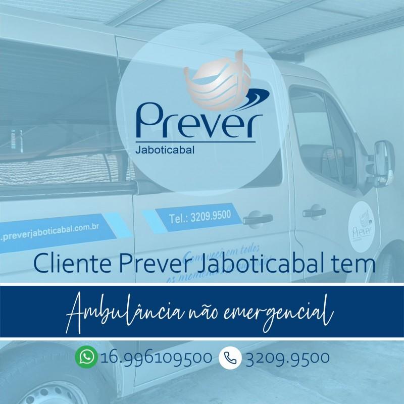 Prever Jaboticabal oferece Ambulância não emergencial